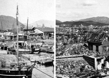 Η Χιροσίμα πριν και μετά τη ρίψη της ατομικής βόμβας