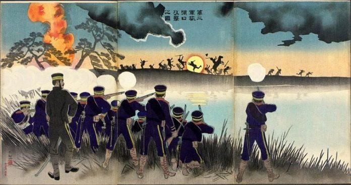 Καλλιτεχνική απεικόνιση του ιαπωνικού ιμπεριαλισμού