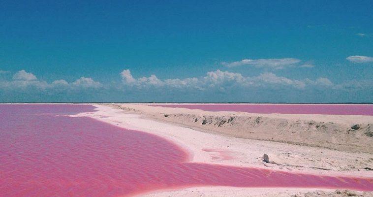 Η φυσική ροζ λιμνοθάλασσα του Μεξικού