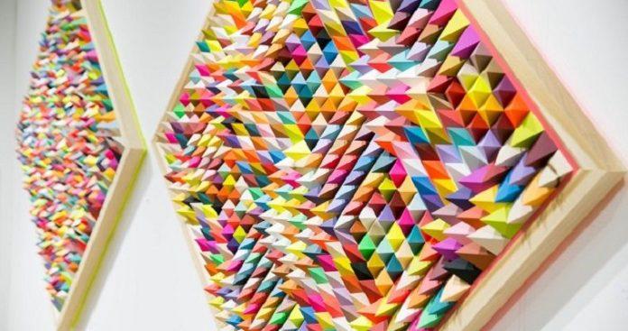 Πολύχρωμα έργα τέχνης με την βοήθεια της ψευδαίσθησης