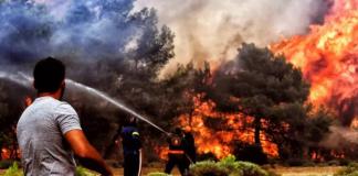 Συνεχίζεται η μάχη με την πυρκαγιά στο Άγιο Όρος