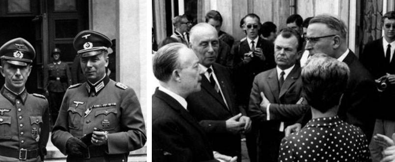 Συζήτηση του Krukenberg το 1969 με τον Γάλλο πρέσβη François Seydoux (αριστερά) ο οποίος έχει βραβευτεί με το βραβείο Καρλομάγνος για την ενίσχυση της ευρωπαϊκής ενοποίησης.