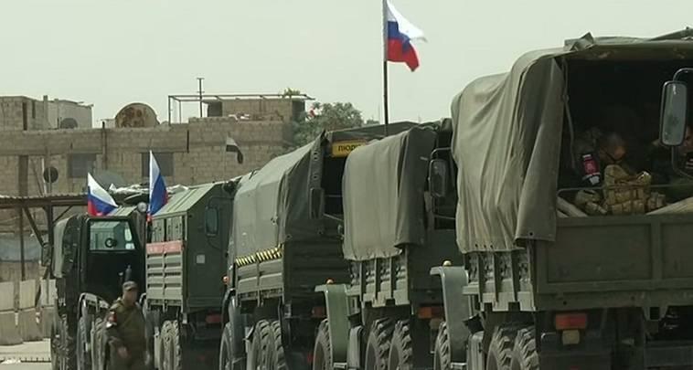 Αποτέλεσμα εικόνας για ρωσικες περιπολιες στην Μανμπίτζ