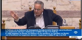 """Προεδρείο Βουλής στη Χρυσή Αυγή: """"Είστε υπόδικοι εγκληματίες περάστε έξω!"""""""