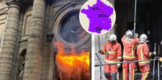 Ο χάρτης των εκκλησιών της Γαλλίας που έγιναν στόχοι επίθεσης