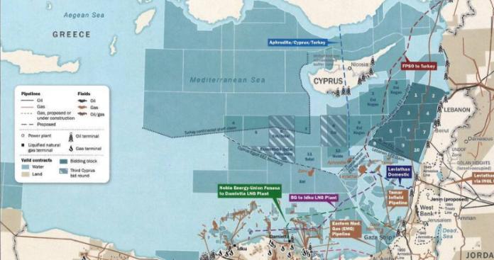 Αποκαλυπτικός επίσημος χάρτης των ΗΠΑ για το αέριο στην Αν. Μεσόγειο, Κώστας Βενιζέλος