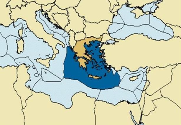 Η ΑΟΖ ΤΗΣ ΕΛΛΑΔΑΣ,Πηγή: Global Maritime Boundaries Database, General Dynamics, Herndon, Virginia, USA