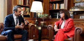 Συνάντηση Προέδρου και Πρωθυπουργού για τα ελληνοτουρκικά