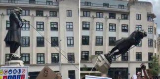 Φλόιντ: Γκρέμισαν άγαλμα δουλέμπορου στο Μπρίστολ - Γονάτισαν οι Ισπανοί