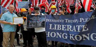 Η αντικινεζική εκστρατεία των ΗΠΑ δοκιμάζεται στο Χονγκ Κονγκ, Πελαγία Καρπαθιωτάκη