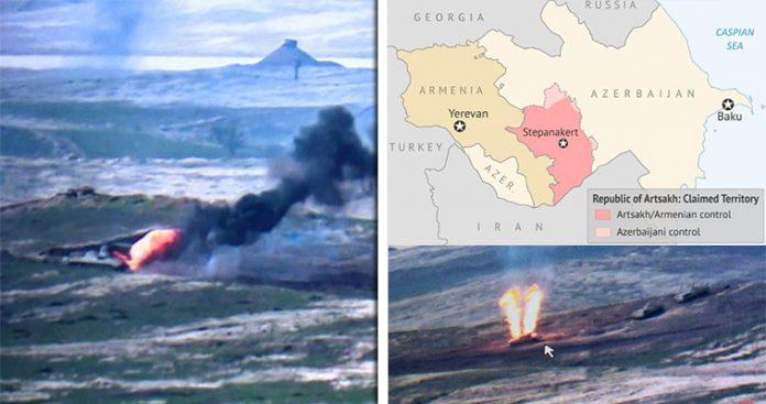 Ένοπλη σύγκρουση Αρμενίας-Αζερμπαϊτζάν – Οι πρώτες εικόνες (βίντεο)