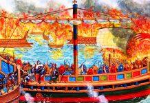 """Η άγρια """"πεζομαχία"""" στη θάλασσα – Η μεγάλη σφαγή Λατίνων, Παντελής Καρύκας"""