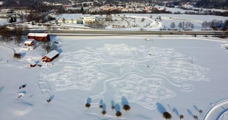Από την οθόνη στον πάγο – Εντυπωσιάζει η τέχνη του χιονιού