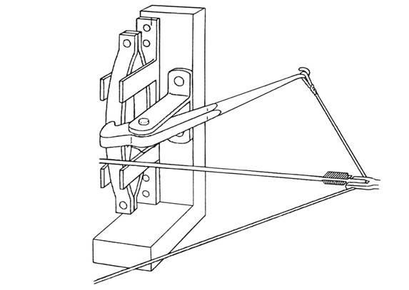 Προοπτικό σχέδιο της διάταξης των ελασμάτων στον χαλκότονο (Εric Marsen: ANCIENT GREEK AND ROMAN ARTILLERY, TECHNICAL TREATISES, Oxford, 1971).