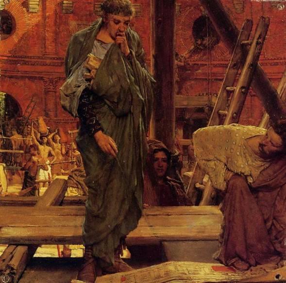 Ο μηχανοποιός (sir Lawrence Alma-Tadema, 1877, Private Collection).